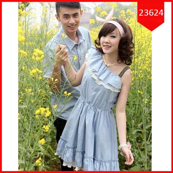 Busana: Dress Couple Denim Febyola (BBB-061)