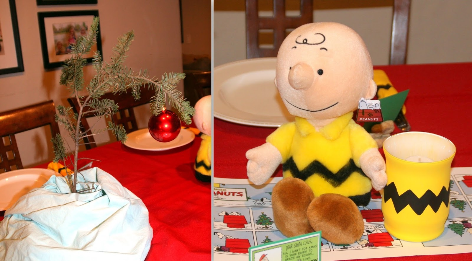and printed out several 85 x 11 peanuts holiday comic strips to tape together and use as a table runner i made a charlie brown christmas - When Was Charlie Brown Christmas Made