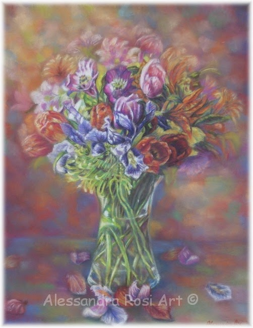 flowers paintings, still lifes and florals, classical art, romantic realism
