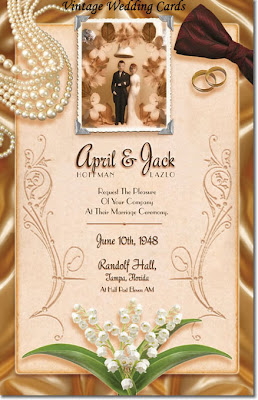 Vintage Wedding cards