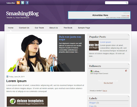 SmashingBlog Blogger Theme