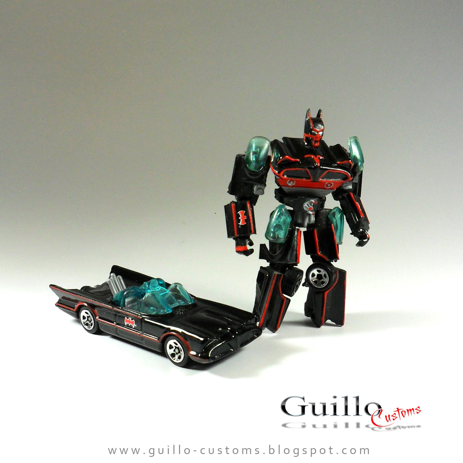 Yet Another Hot Wheels Custom Transformers Style Batmobile
