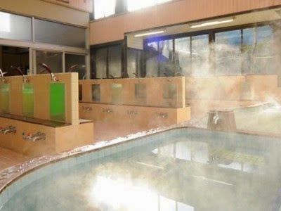 Onsen Bathing Together Without Clothing In Japan Public