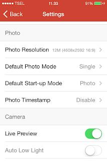 Cara melakukan pengaturan video dan foto xiaomi yi action camera