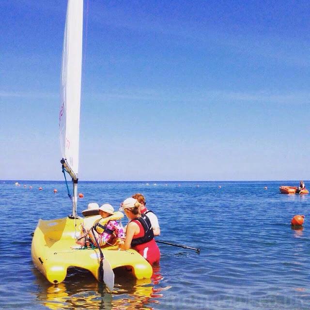 E sailing with Mark Warner Mini Club
