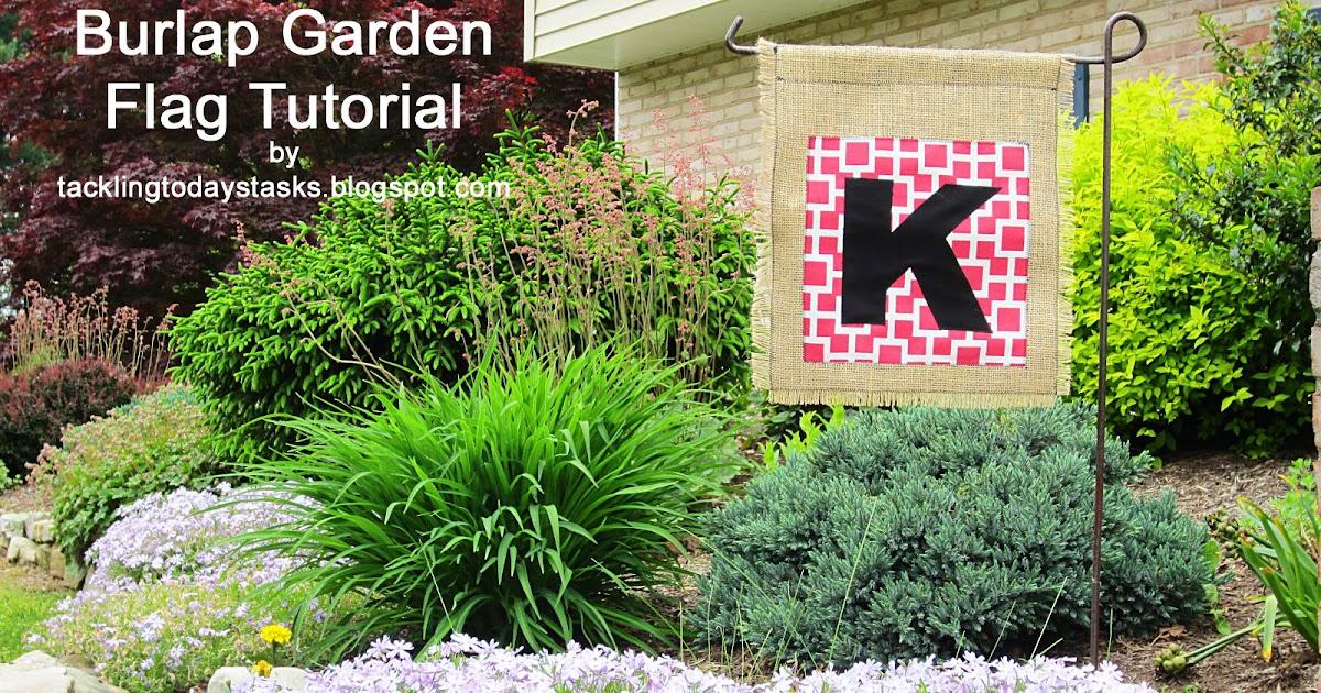 monogrammed burlap garden flag tutorial | tackling today\'s tasks