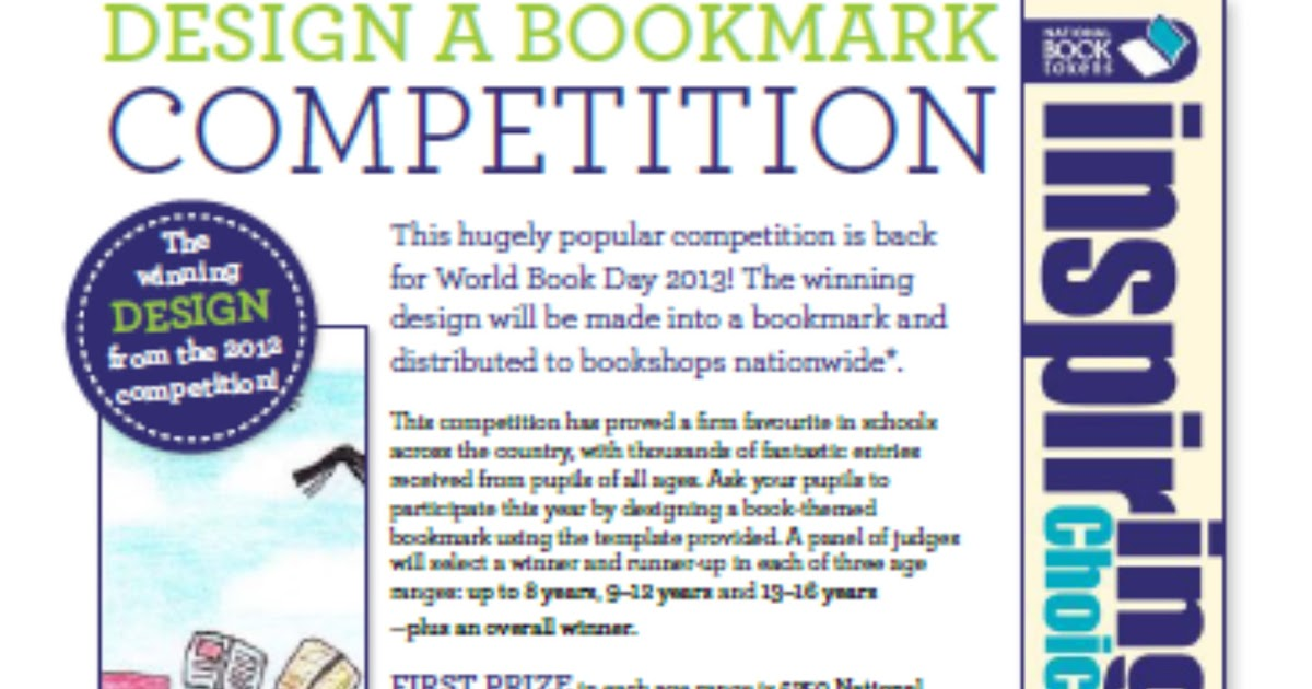 howes library blog  world book day bookmark competition