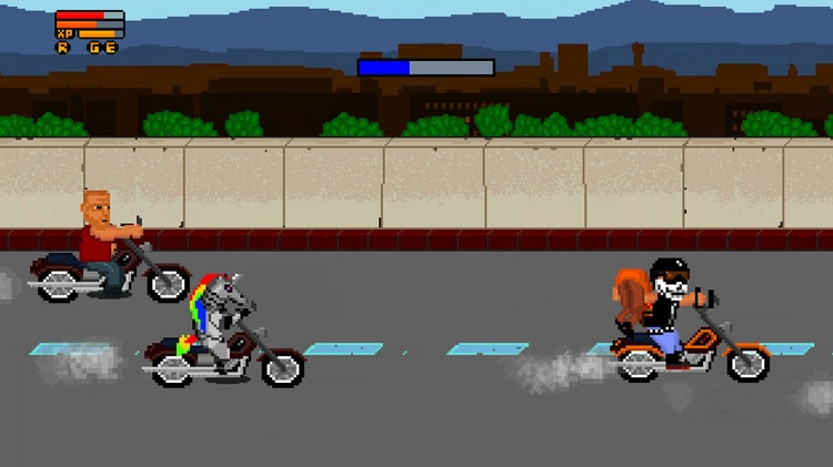 motorcycle chase
