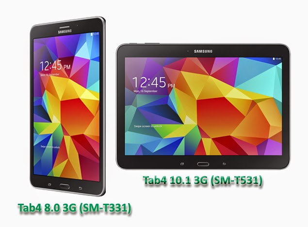 Samsung Galaxy Tab4 8.0 3G and Samsung Galaxy Tab4 10.1 3G