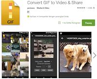Cara mudah mengubah gif ke video di android