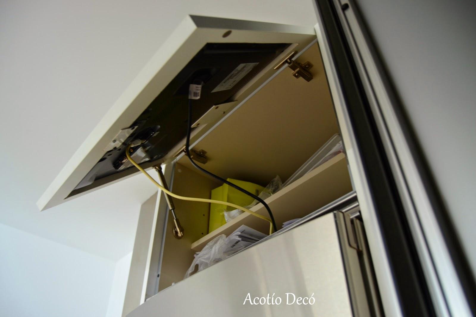 Proyecto integrar la tele en un armario de cocina decoraci n - Mi armario de la tele ...