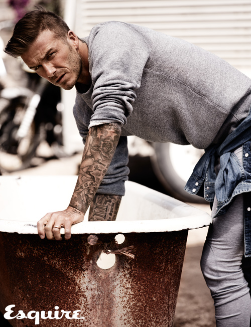 David Beckham in Esquire UK