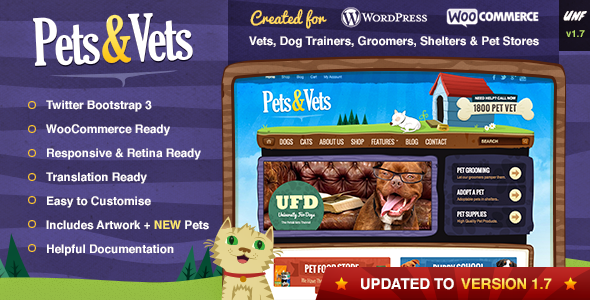 Pets & Vets – WordPress & WooCommerce