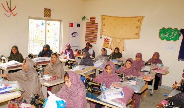 Pakistani women in classroom, Ikbaliye town, Kimse Yok Mu