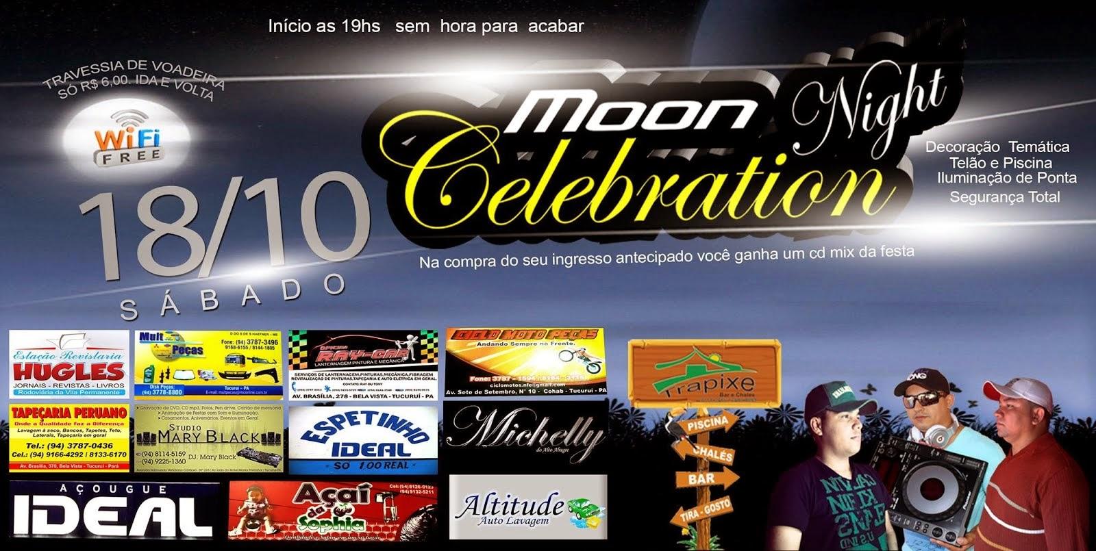 Moon Night Celebration: A festa do ano, hoje (18) a partir das 19 hno Trapiche Bar e Chalés