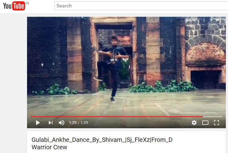 Gulabi_Ankhe_Dance_By_Shivam_|Sj_FleXz|From_D Warrior Crew