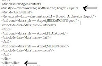 menambah fitur scroll pada widget arsip DLL