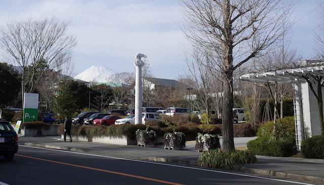 クレマチスの丘から見える富士山