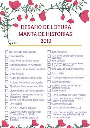 DESAFIO DE LEITURA 2019