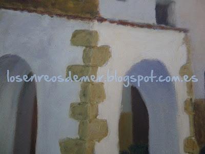 Ermita de San Antonio, detalle - Óleo sobre lienzo