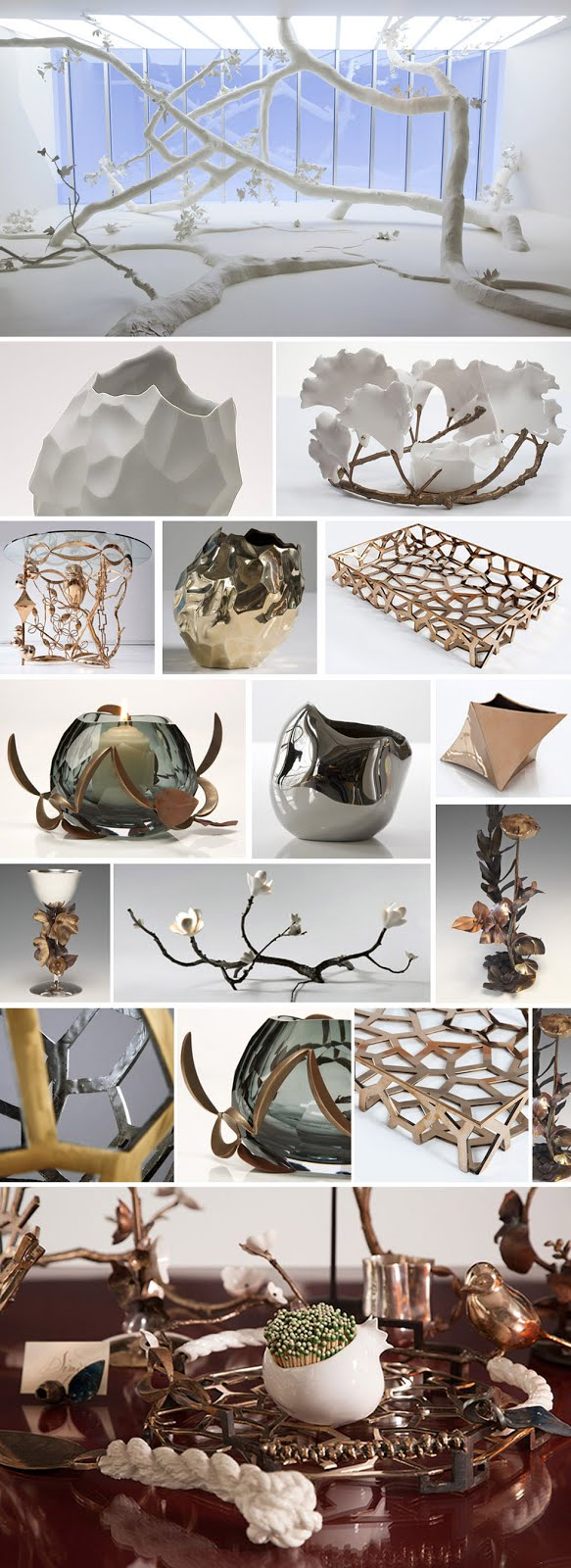 Objetos e esculturas  de David Wiseman.