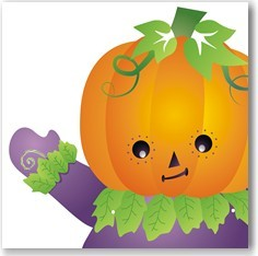 calabaza infantil de halloween