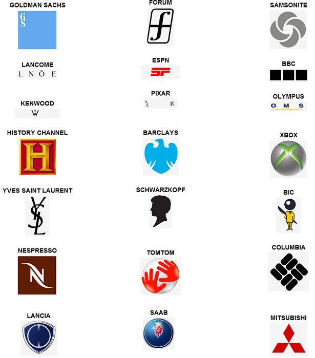 Logos logo quiz cars logo logo quiz corporations logo logo quiz top