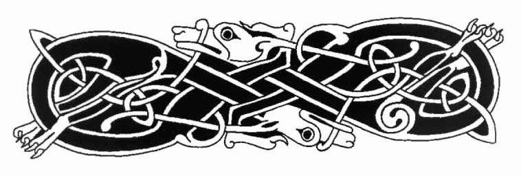Armband Celtic wolfs tattoo stencil