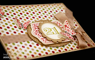 Papillion Potpourri and Chalk Talk 21 Anniversary Card by UK based Stampin' Up! Demonstrator Bekka Prideaux - check out her blog for loads of great ideas for these stamp sets!