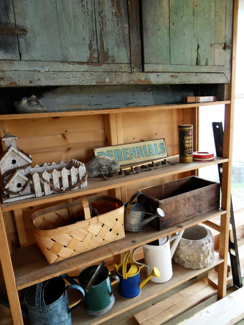 Garden Shed Cabin Storage Shelves