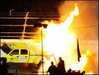 Acidente Montoya Daytona 500 fogo