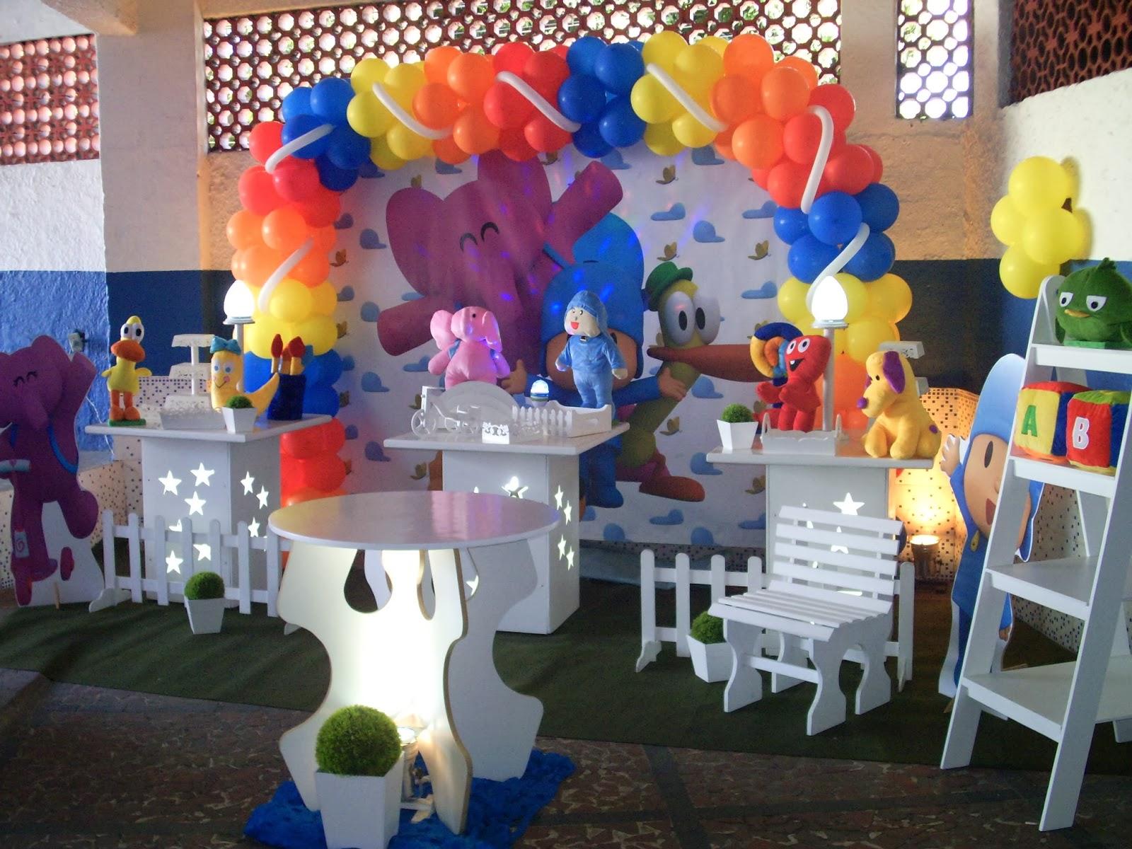 Pocoyo - Decoração provençal para festa infantil com tema do Pocoyo