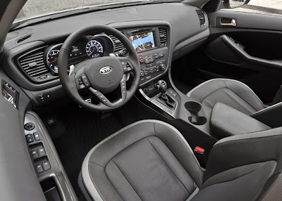 Interior del Kia Optima 2013