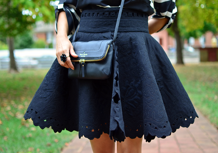 H&M Black Skirt Paris Collection