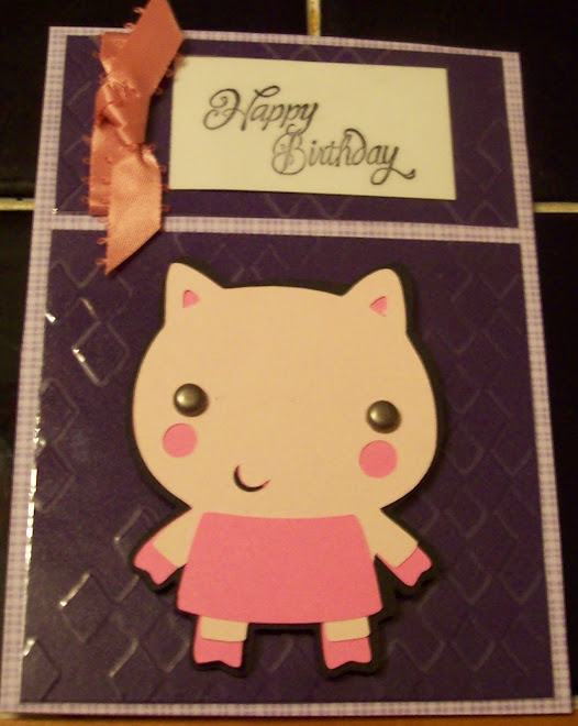 Purple and pink girl's card!