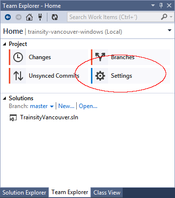 how to connect to git repository from visual studio