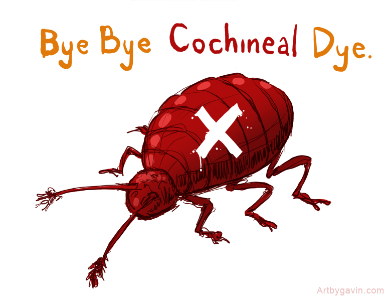 i should really be drawing food rant bye bye cochineal dye Red Food Coloring Ingredients  Bugs Used For Red Food Coloring