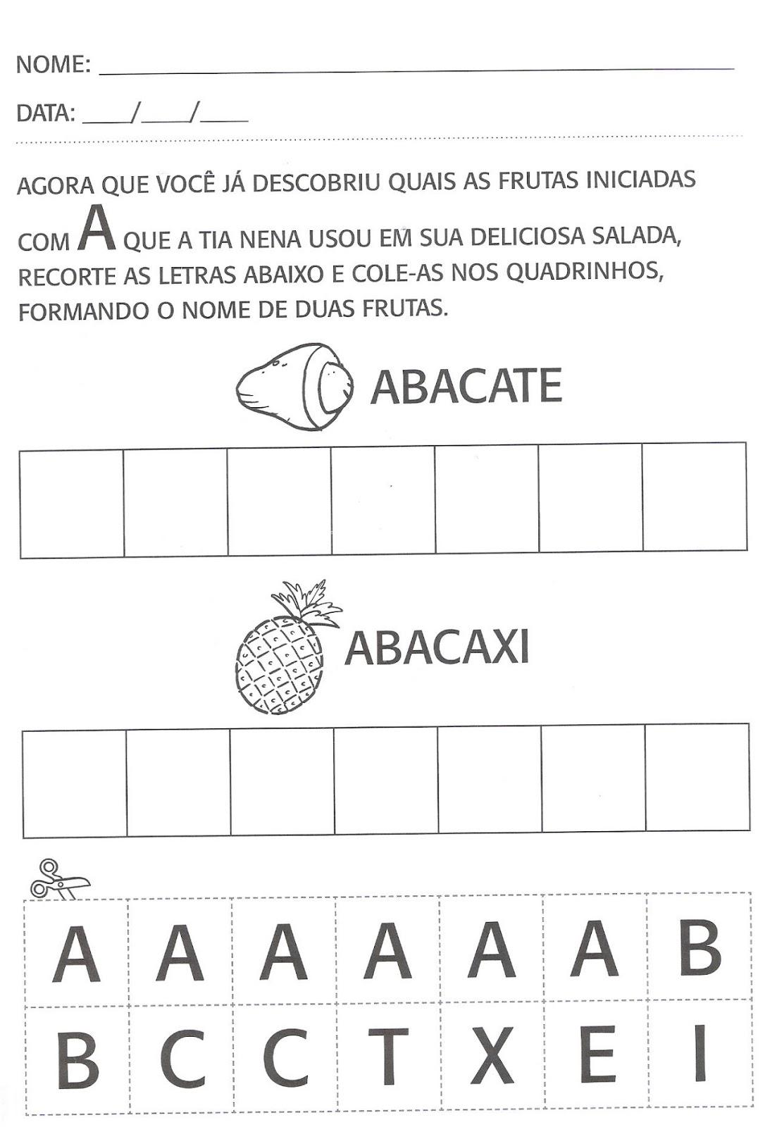 Amado Atividades de português para segundo período, educação infantil  VN66