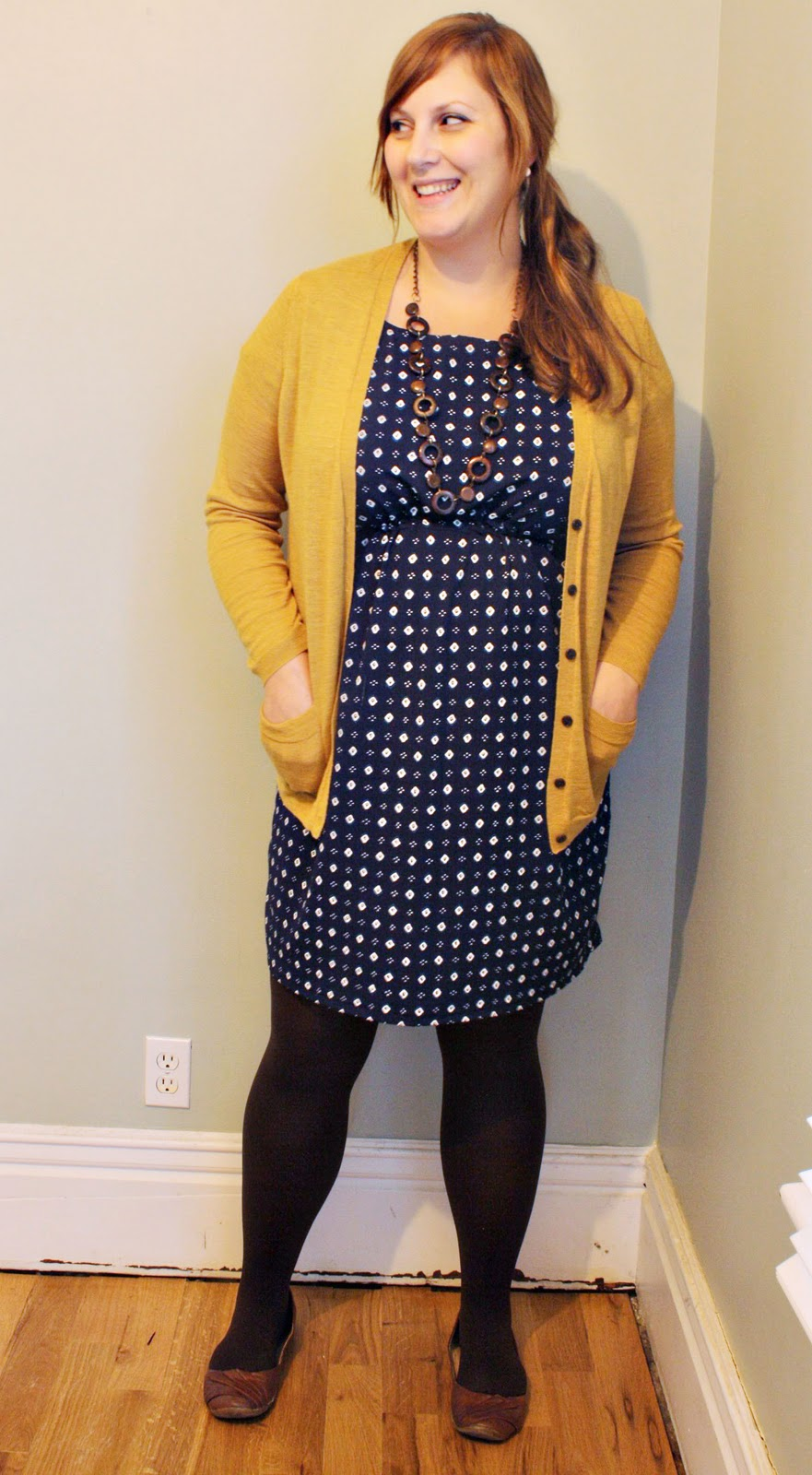 Lather. Write. Repeat.: Style Peek: navy dress + mustard ...