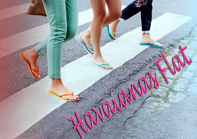 chinelos bonitos Havaianas Flat