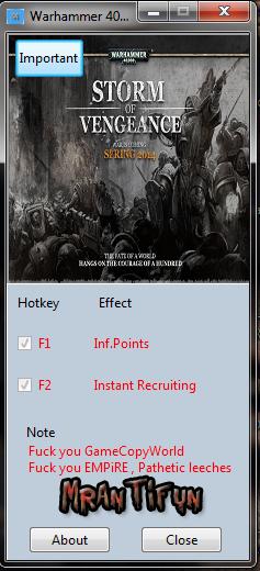 Warhammer 40K Storm of Vengeance V4.3.3.30826 Trainer +2 MrAntiFun