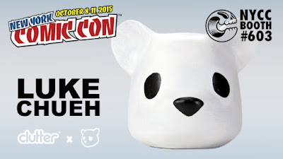 "New York Comic Con 2015 Debut ""Everyone Needs A Lot of Head"" Vinyl Figure by Luke Chueh & Clutter"