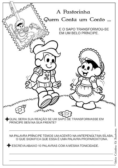 Atividade Tonicidade/ Temática Contos de Fada / A Pastorinha
