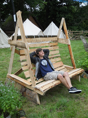 outdoor bench Shambala festival