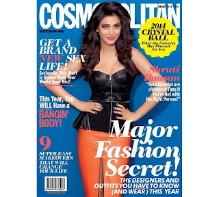 Shruthi Hassan in Cosmopolitan Magazine Lovely Pics