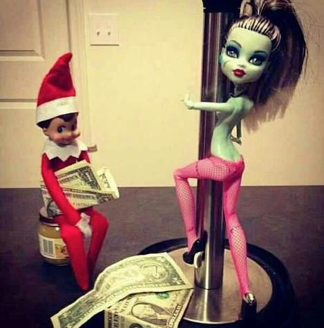 Elf on the Shelf Strip Club