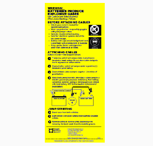 Free Battery Jump Start Sticker