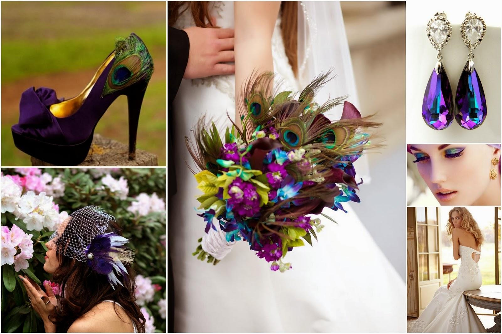 Peacock Theme Wedding Peacock Bride