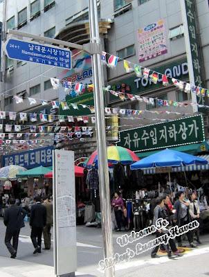 shopping at namdaemum, seoul, korea