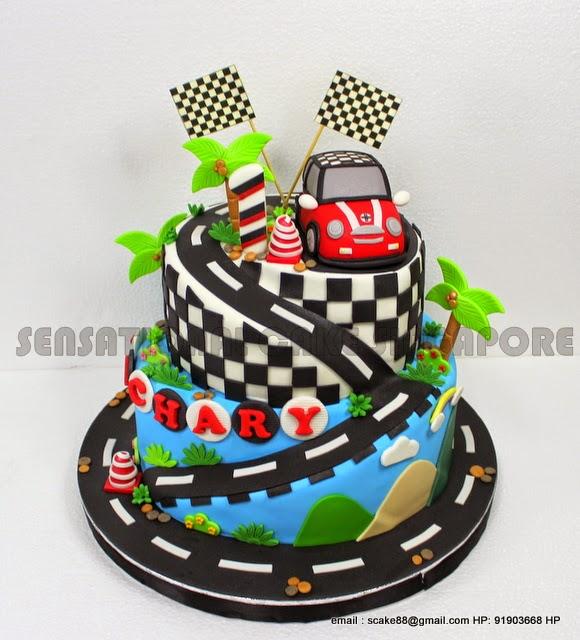 The Sensational Cakes CHECKER MINI COOPER 3D CAR CAKE SUGAR
